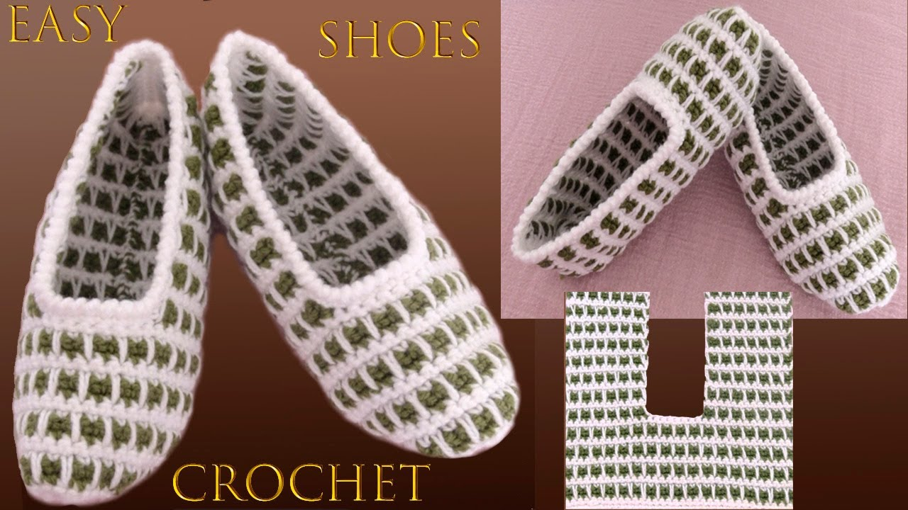 Crochet Spike Stitch Slippers – Zapatos A Crochet