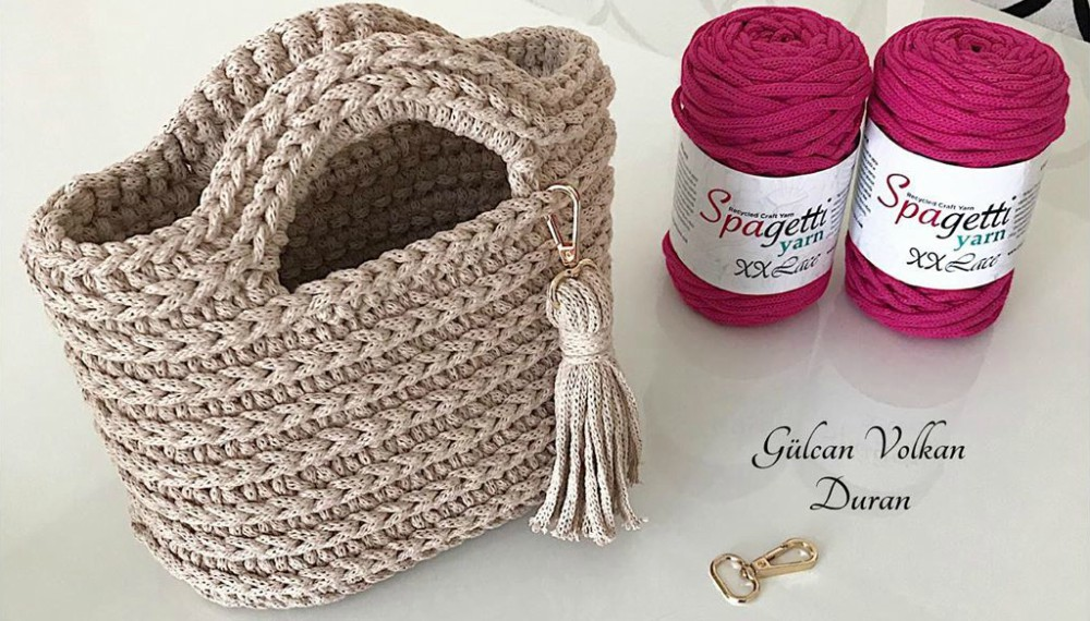 Crochet Spagetti Yarn Tote Bag For Beginners