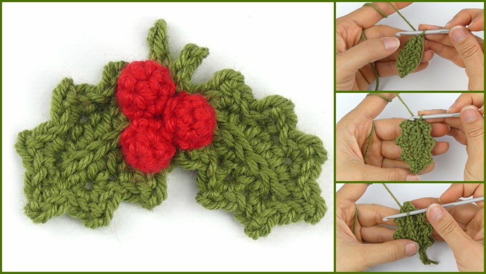 How To Crochet Holly Leaf With Berries