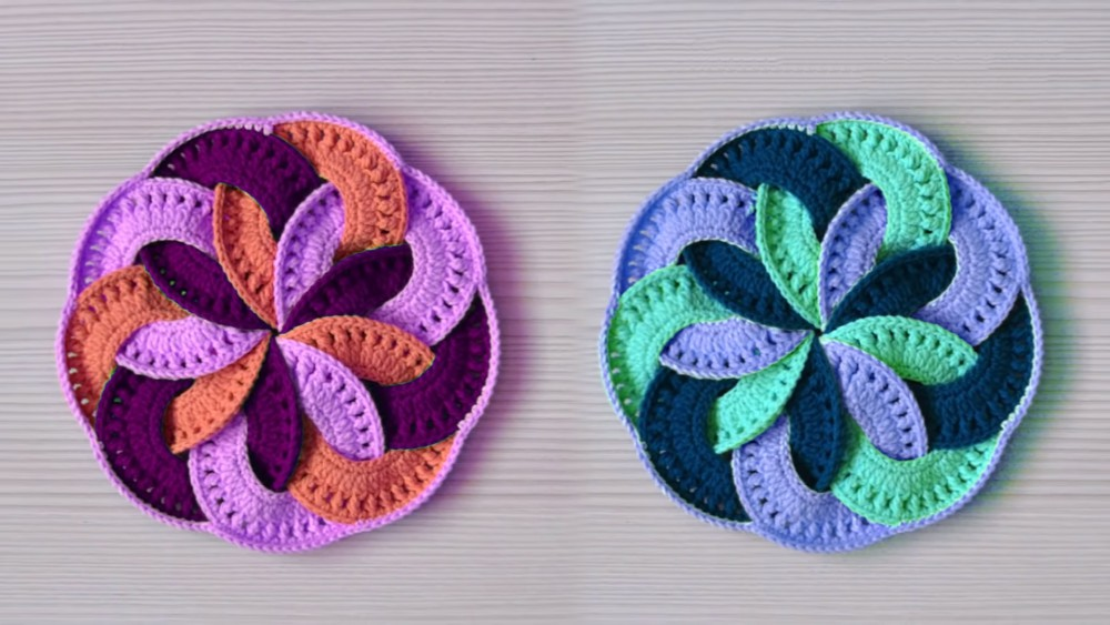 Unusual Crochet Mandala Potholder Tutorial