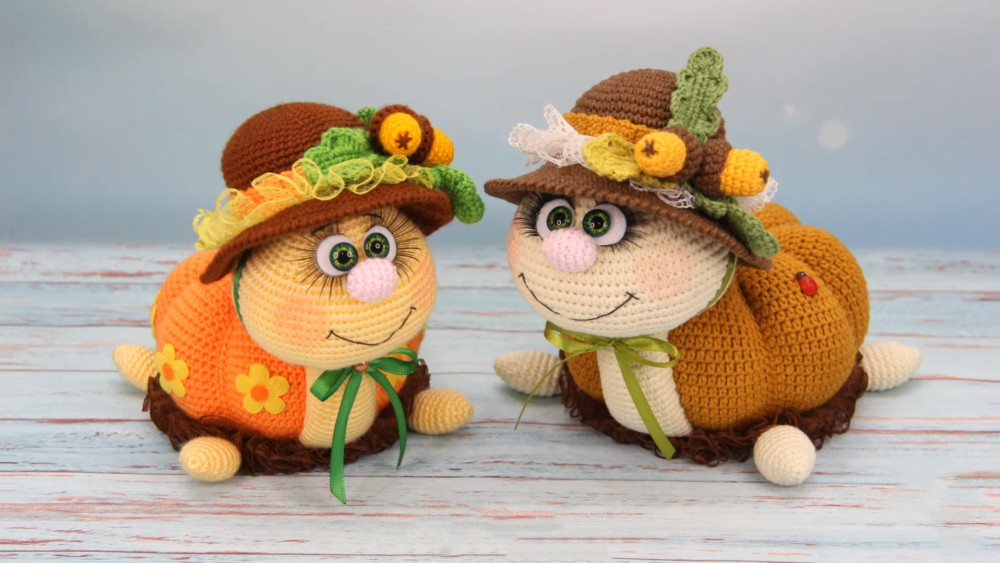 Pumpkin Snail Crochet Tutorial Step By Step