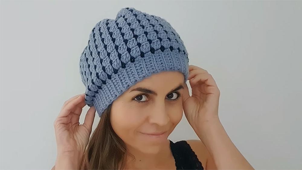 Crochet Block Stitch Beanie Hat In All Sizes