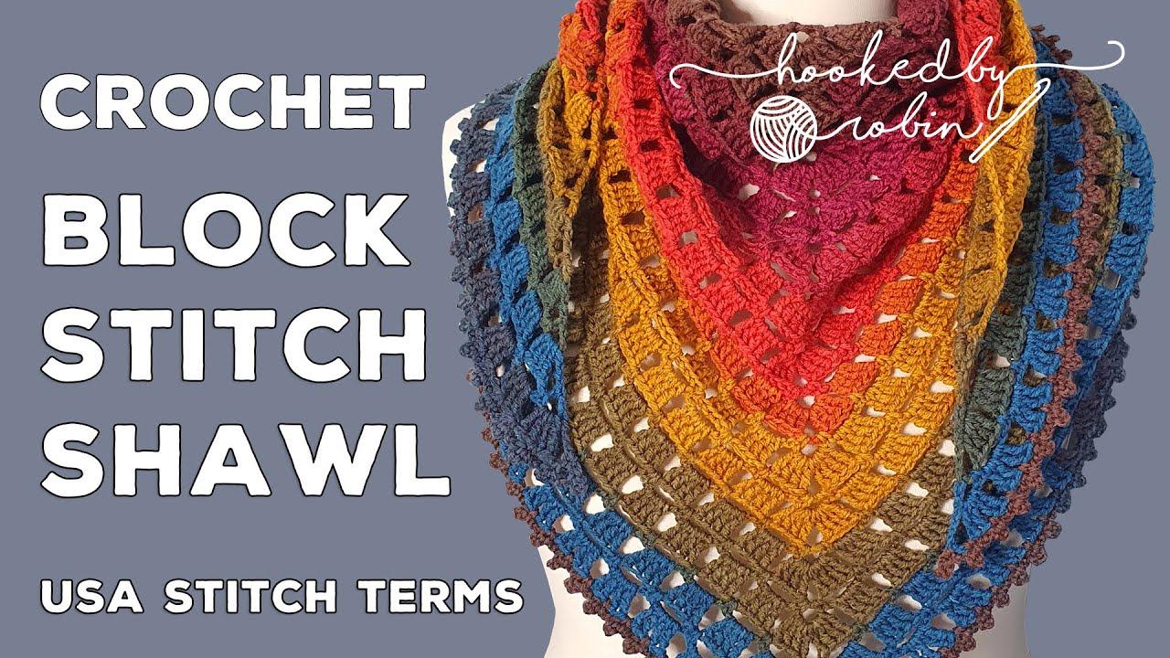 Crochet Block Stitch Shawl Tutorial