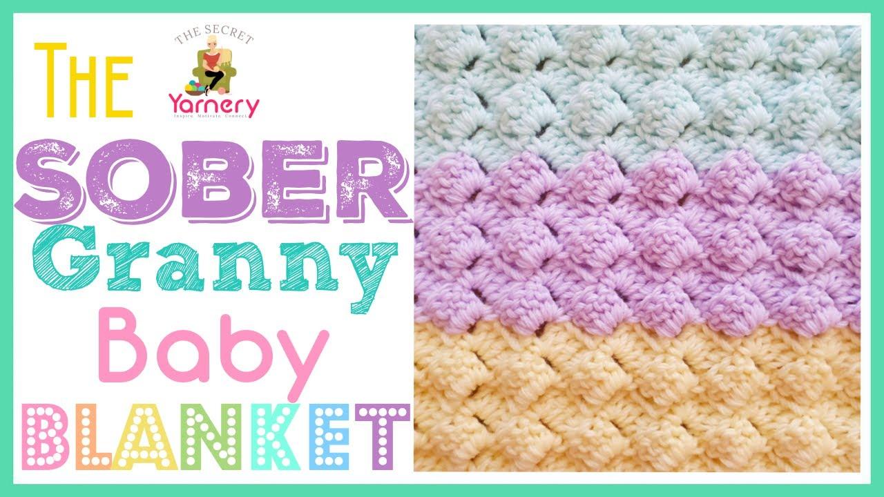 Crochet The Sober Granny Baby Blanket