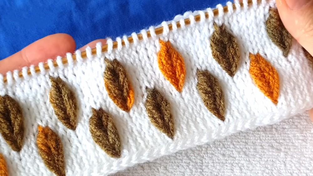 Learn To Crochet This Beautiful Tunisian Leaf Stitch