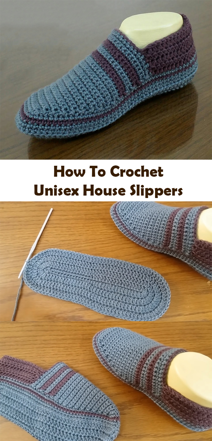 Easy Crochet Slippers For Women And Men