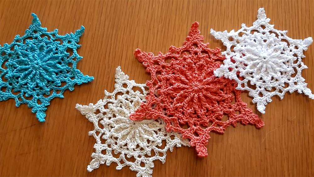 Easy Crochet Snowflake Pattern For Christmas