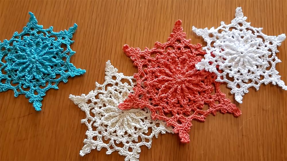 Easy Crochet Snowflake Pattern For Christmas