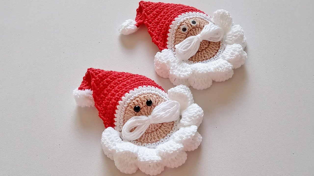 Quick and Easy Santa Claus Crochet Ornament Tutorial