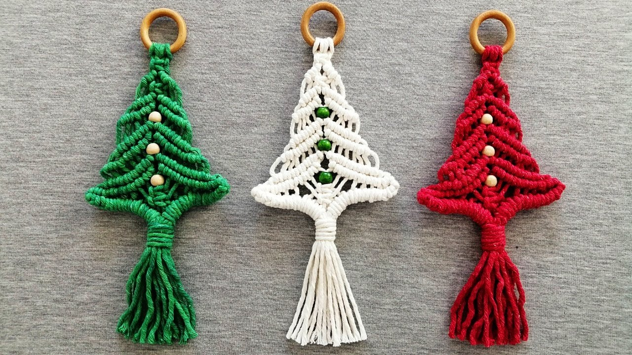 How To Make A Christmas Tree Hanging Ornament