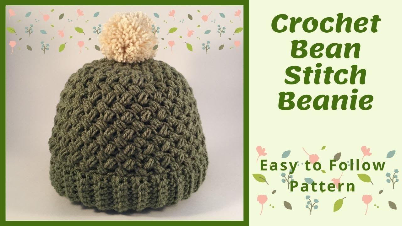 The Bean Stitch Beanie/Free Crochet Pattern