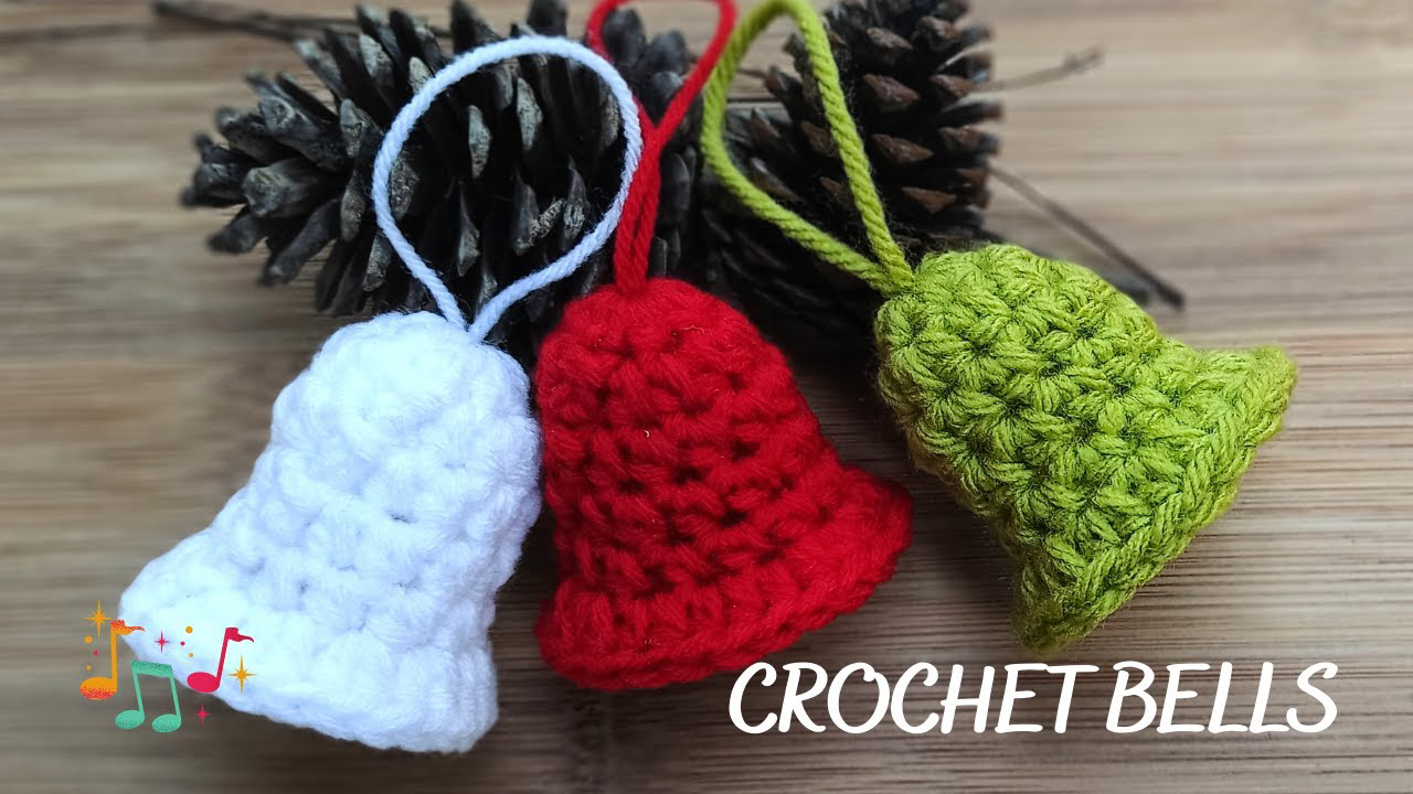 Christmas Bell Ornament Free Crochet Pattern