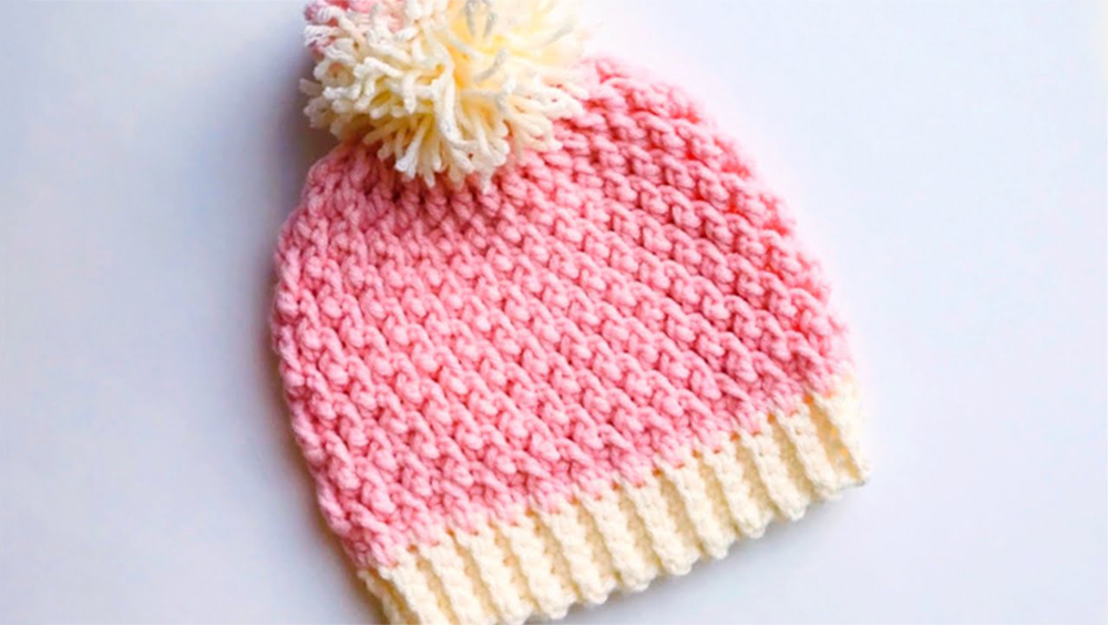 Crochet Alpine Stitch Baby Hat In All Sizes