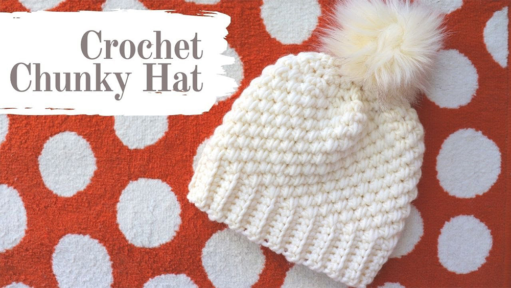 Crochet One Hour Chunky Hat For Beginners