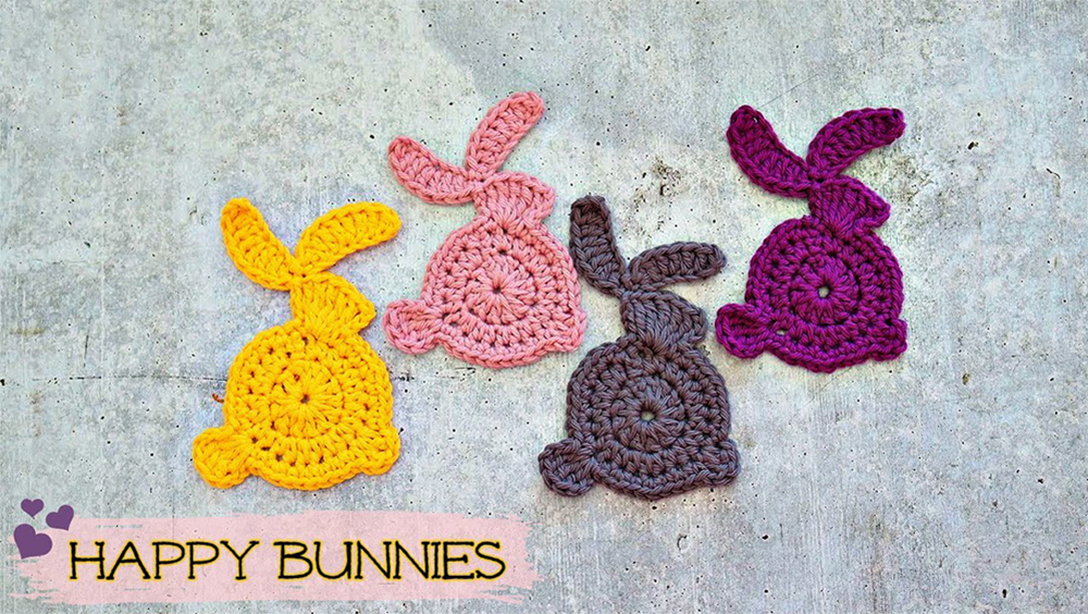 How To Crochet Easy And Simple Bunny Applique/Motif