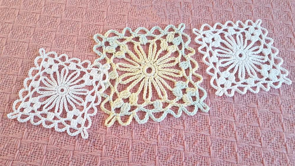 Easy Flower Square Motif Crochet Pattern