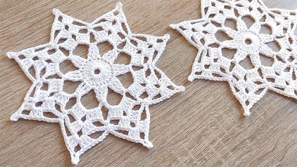 Octagram Snowflake Free Crochet Pattern