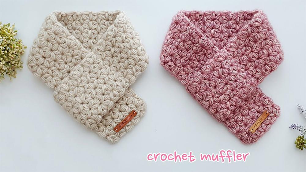 Crochet Jasmine Stitch Muffler Scarf