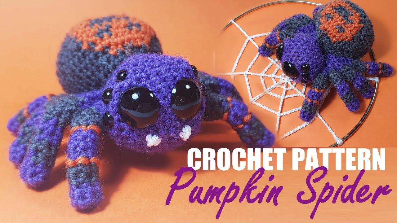 How To Crochet Halloween Pumpkin Spider