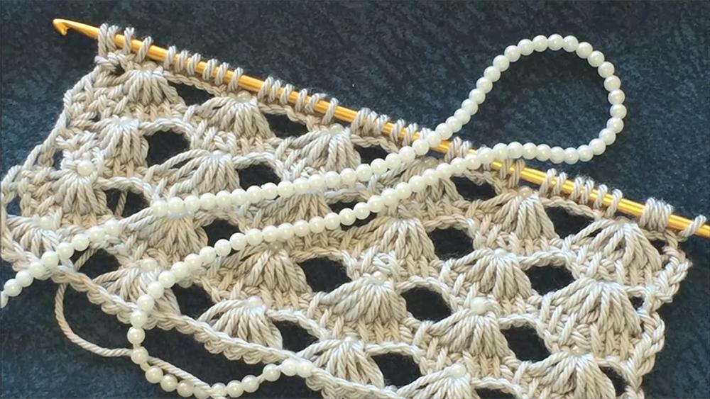 Beautiful Crochet Stitch With beads