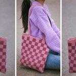 Easy Crochet Checkered Tote Bag